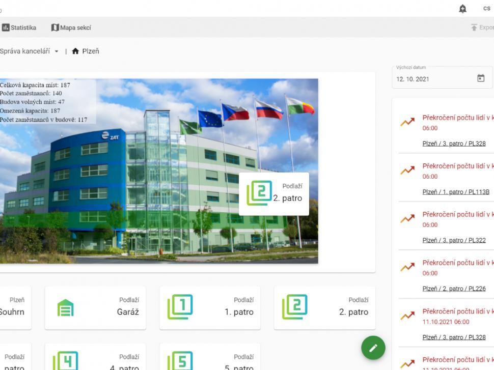 Screen z aplikace SimONet